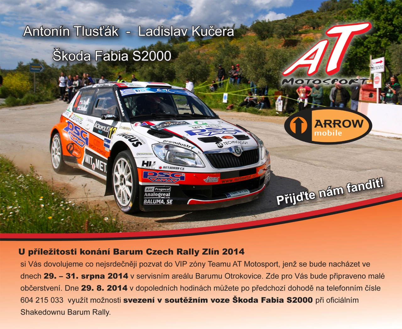 Pozvanka Barum Rally 2014z