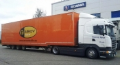 New trailer Scania tested by ARROW mobile